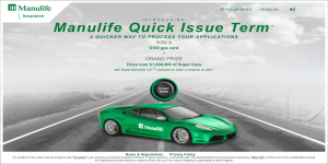 manulife contest front page