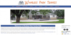 wanless tennis homepage